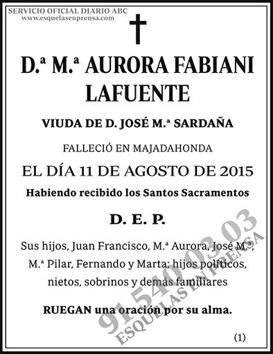 Aurora Fabiani Lafuente